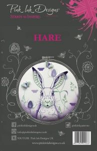 Pink Ink A5 Hare Clear Stamp Set